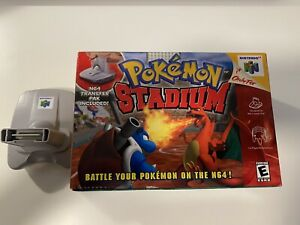 Pokemon Stadium N64 Box and transfer pak only.