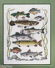 Cross Stitch Patterns Man Fishing Sampler Stitcher Stocking 1989 CrossQuick 0102