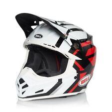 Bell Moto 9 Motocross Race Helmet District White Black Red Small 55-56cm