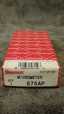 575ap Starrett 0 1 Screw Thread Micrometer Double V Anvil 7 9 Tpi 001 Grad