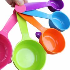 5pcs Measuring Spoon Cup Set Plastic Sauce Measure Cup Spoon Measurement Utensil