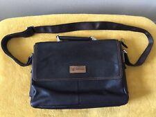 TEDI HUALUN Brown Leather Briefcase W/Shoulder Strap Handle ...