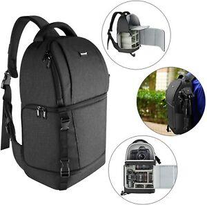 Neewer Black Sling Camera Bag Case Backpack for DSLR and Mirrorless Cameras