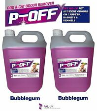 2 X 5L P-off Pet orina olor destructor de olores-Wee humo heces Poo-chicle