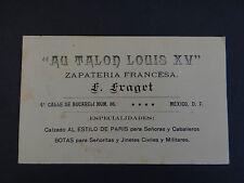 Carte de visite Visit card CDV AU TALON LOUIS XV Fraget Mexico Mexique