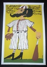 BASEBALL / The National Sport / CUBA Silk-screen Poster by BACHS for Cuban Movie