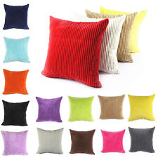 "Large Soft Velvet Striped Couch Cushion Covers Pillow Case Home Decor 24""x24"" JN"