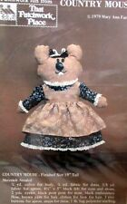 """That Patchwork Place COUNTRY MOUSE 19"""" soft sculpture doll pillow craft pattern"""