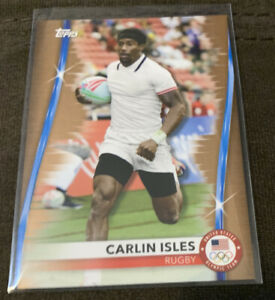 2020 Topps USA Olympics Carlin Isles Bronze Parallel #5 Rugby