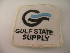 Vintage Gulf State Supply Oil Gas Industry Logo Patch