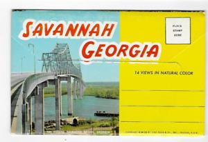 POSTCARD FOLDER-SAVANNAH, GEORGIA