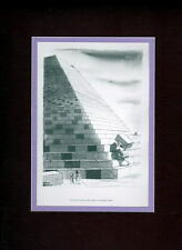 Chas Addams - 'HOW EGYPT REALLY BUILT THE PYRAMIDS' PROFESSIONALLY MATTED PRINT