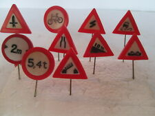 toy road signs x 10.plastic road signs.traffic signs.