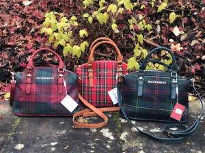 Inverness New Ladies Tartan Check Plaid Medium Tiffany Hand Bag in 4 Colours