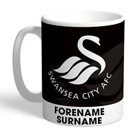 Personalised Swansea City FC Crest Mug Fan Gift Supporter Licensed The Swans