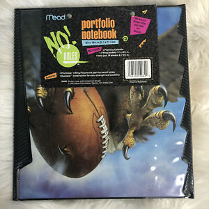 NEW Vtg 1991 Football Eagle NO RULES 3 Ring Mead Binder Trapper Keeper School