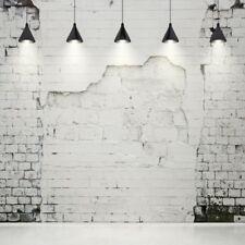 Retro Grunge Brick Wall Modern Light 8x8' Photography Background Photo Backdrops