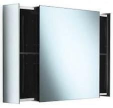 Lineabeta Pika' 2 Drawer Mirror Cabinet - 590x590x160mm - Stainless Steel