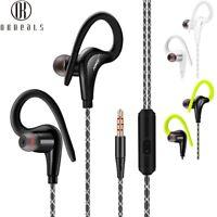 1 x Waterproof Earphone Sports Running Headphone Stereo Bass Headset With Mic~