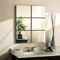 15*15cm Squre Mirror Tile Wall Stickers Mosaic Room Makeup Decor 3D Adhesive