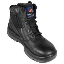 261020 Mongrel Black zip side safety boots NEW. Free freight in Aust.