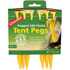 "Coghlan's resistente ABS 6"" estacas de plástico (6 Pack), Supervivencia Camping Estacas"