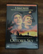 October Sky (DVD, 1999, Widescreen) FREE SHIPPING