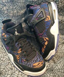New Air Jordan 4 IV RetroShoes Rush Violet/Black BQ9043-005 Size 5.5Y youth 5.5