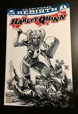 Harley Quinn #1 Rebirth Francis Manapul The Comic Mint Exclusive B&W Variant