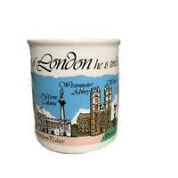 Vintage London Life Coffee Cup Mug Sampson Souvenir Houses Westminster Abbey