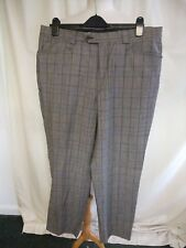 "Ladies Trousers Versace Classic, grey check wool, waist 37"" inside leg 31"", 0420"