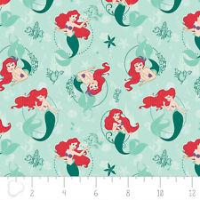 Fabric 100% Cotton Camelot Disney Princess Ariel Mermaid