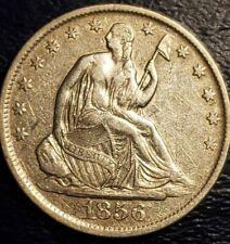 1856-O // USA // SEATED LIBERTY SILVER HALF DOLLAR COIN //  AU COND // KM#: A68