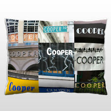 Personalized Pillow featuring the name COOPER in photos of actual signs