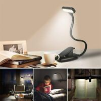For Laptop PC Rechargeable LED USB Reading Light Dimmer Clip Table Desk Lamp CA.