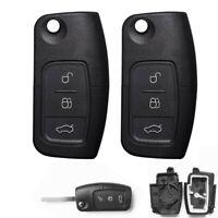 Pour Ford Focus Fiesta Mondeo 3 bouton Flip Remote Fob Case Clé à lame plate
