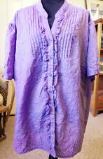 "3x 4x Plus 66"" Bust 32"" Length Liz n Me Catherines Purple Shirt Top Blouse Light"