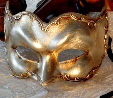Silver Masquerade Mask Antonio Zane Mens Italian Made OVERNIGHT