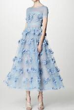 $1195 Marchesa Notte Floral-Appliqued Lace Gown (Size 6)