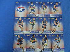 2012 SELECT CHAMPIONS AFL CARDS WESTERN BULLDOGS BASIC TEAM SET