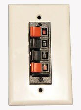 Speaker Terminal 4 conductor Spring Clip Wall Plate for Home Theater Speakers