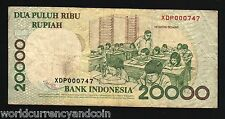 INDONESIA 20000 RUPIAH P138 1998 *REPLACEMENT* INDIAN GOD GANESHA CURRENCY NOTE