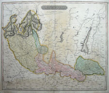 c1812-16 MILAN & LAKES Garda Como Italy * THOMSON 49.5 x 59cm ORIGINAL