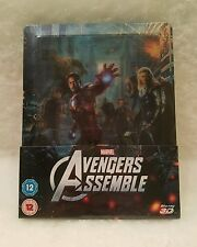 Avengers STEELBOOK 3D Blu Ray UK Lenticular Magnet Sold Out Region Free Embossed