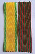Lot de 2 rubans NEUFS pour Médaille militaire et Croix de guerre 1914 / 1918