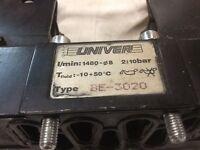 Univer Solenoid Valve, BE-3020, 24V Solenoid, Type U3, 2 ,5 W, Used