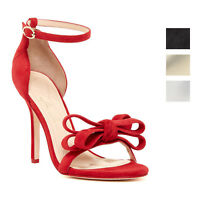 Isa Tapia Shelby Bow Open-Toe Stiletto Heels Sandals - Multiple Colors