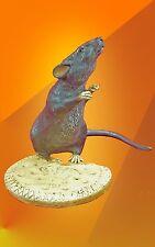 More details for exclusive art deco, mouse biscuit bronze statue bergman figure animal figurine