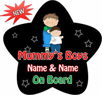 Personalised Black /& Pink Princess Star Shape Child Baby on Board Car sign