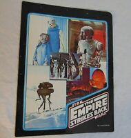 Star Wars Vintage School Portfolio Folder Vintage 1980 The Empire Strikes Back
